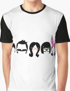 Bobs Burgers Belcher Line Up Graphic T-Shirt