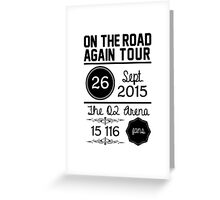 26th September - The O2 Arena OTRA Greeting Card