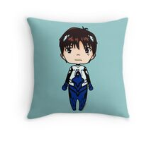 Shinji-Neon Genesis Evangelion chibi Throw Pillow