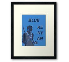 Blue Kenyan (2) Framed Print
