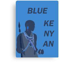 Blue Kenyan (2) Canvas Print