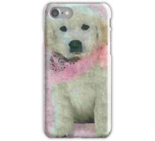 Pink Scarfed Puppies iPhone Case/Skin