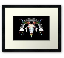 Rainbow Goat Framed Print