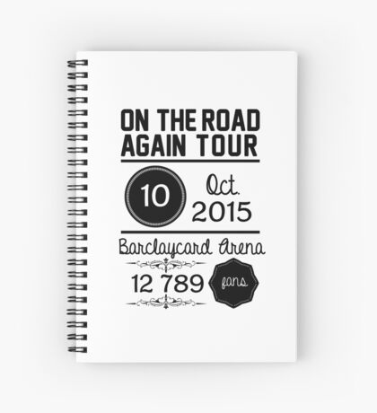 10th october - Barclaycard Arena OTRA Spiral Notebook
