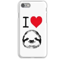 I Love Sloths iPhone Case/Skin
