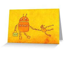 Robomama Robot Mother And Child Greeting Card
