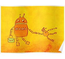 Robomama Robot Mother And Child Poster