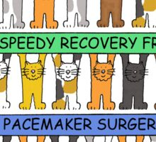 Speedy recovery from pacemaker surgery. Sticker