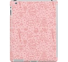 Seamless romantic background of different message of love iPad Case/Skin