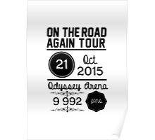 21st october - Odyssey Arena OTRA Poster