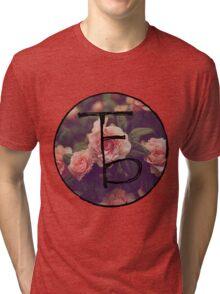 the front bottoms floral logo Tri-blend T-Shirt