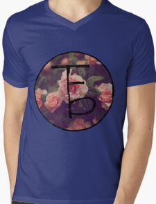 the front bottoms floral logo Mens V-Neck T-Shirt