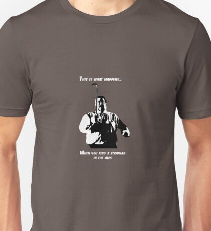 A stranger in the alps (light) Unisex T-Shirt
