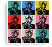 Cybermen Warhol Canvas Print