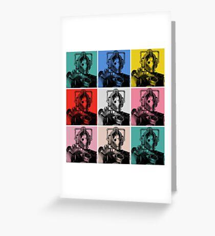 Cybermen Warhol Greeting Card