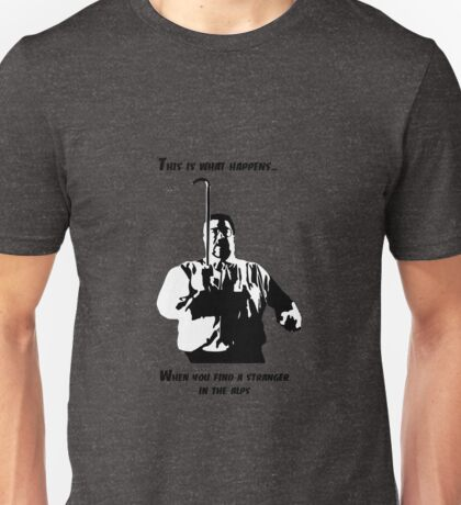 A stranger in the alps (dark) Unisex T-Shirt