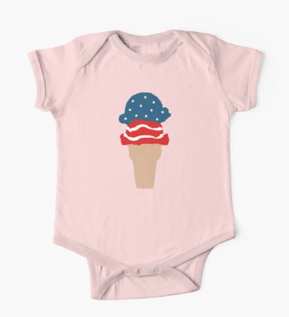 stars and stripes ice cream One Piece - Short Sleeve