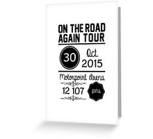 30th October - Motorpoint Arena OTRA Greeting Card
