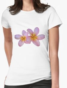 Frangipani Flowers Womens Fitted T-Shirt