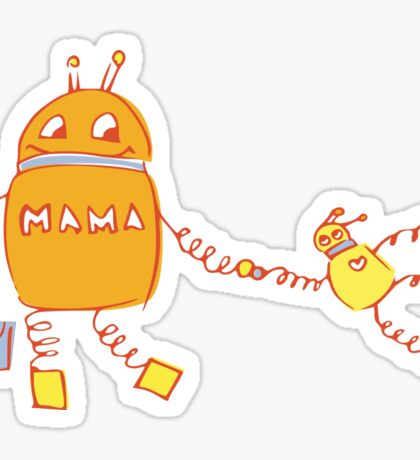Robomama Robot Mother And Child Sticker