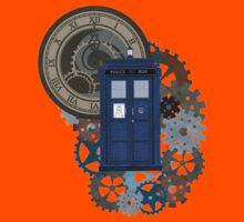 Traveling through the gears of Time  Kids Tee