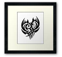 Tribal heart Framed Print