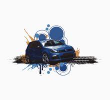 VW Golf R - Rising Blue One Piece - Short Sleeve