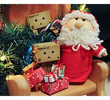 The Danbos Meet Santa Photographic Print