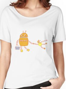 Robomama Robot Mother And Child Women's Relaxed Fit T-Shirt