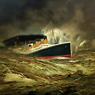 A digital painting of RMS Titanic, especially for Woodie by Dennis Melling