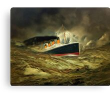 A digital painting of RMS Titanic, especially for Woodie Canvas Print