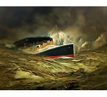 A digital painting of RMS Titanic, especially for Woodie Photographic Print