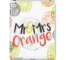 Mr and Mrs Orange iPad Case/Skin