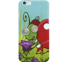 Fastidious butterfly - acrylic on canvas, pearl buttons iPhone Case/Skin