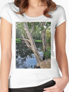Two Trees on the Riverbank Women's Fitted Scoop T-Shirt