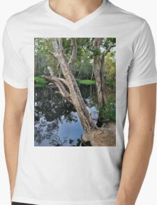 Two Trees on the Riverbank Mens V-Neck T-Shirt