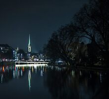 Zurich by the river by Ron Finkel