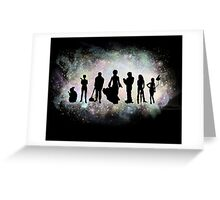 The Endless Silhouettes - Colorful Cosmos Greeting Card
