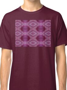 Maroon and pinks geometric pattern. Classic T-Shirt