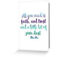 Pixie Dust Greeting Card
