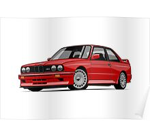 BMW M3 E30 (red) Poster
