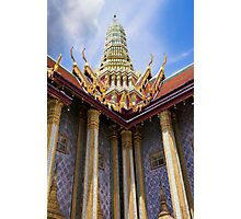 Royal Pantheon Roof at The Grand Palace, Bangkok Photographic Print