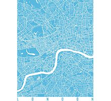London map blue Photographic Print