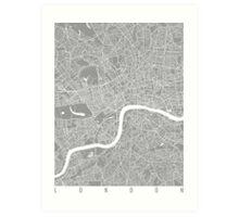 London map grey Art Print