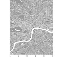London map grey Photographic Print