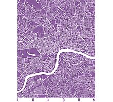 London map lilac Photographic Print