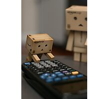 Danbo Does His Homework Photographic Print