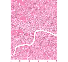 London map pink Photographic Print