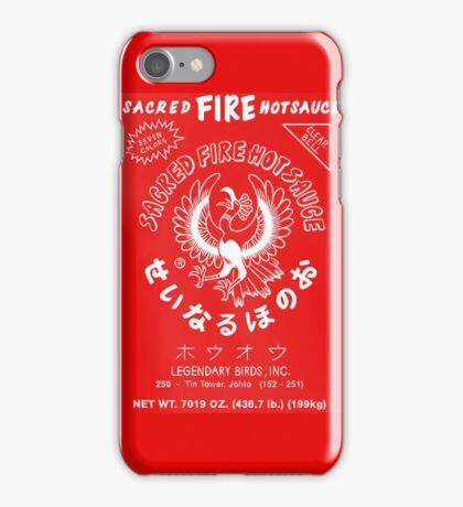 Sacred Fire Hot Sauce Sriracha iPhone Case/Skin