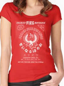 Sacred Fire Hot Sauce Sriracha Women's Fitted Scoop T-Shirt